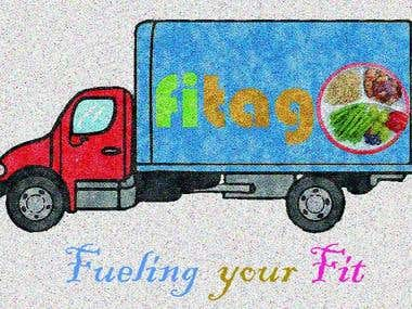 A Logo for the company name \\\'Fitago\\\'.