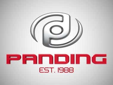 Logo and 3D Rendering for Panding car dealership