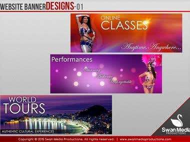 Website Banner/Header Designs