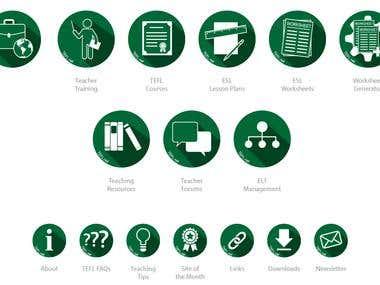 TEFL flat icons