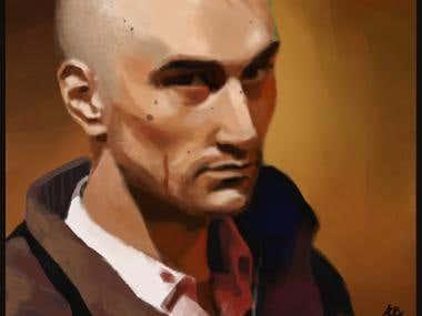 Portrait art:  realistic digital painting