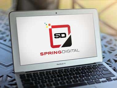 Spring Digital Logo Design