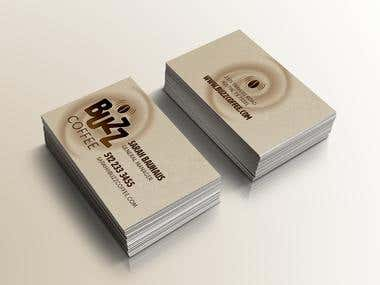 business card for coffee business