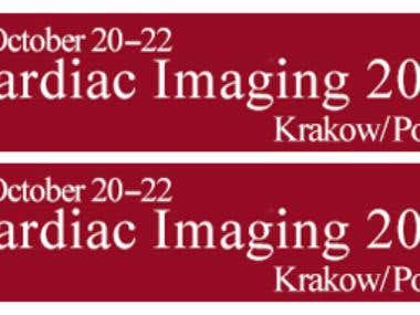 Web banner for Cardiac Imaging 2016 Krakow/ Poland