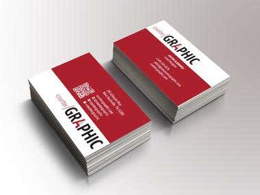 business card for graphic desginer
