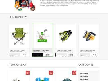 PSD webpage design