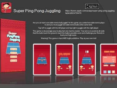 Super Ping Pong Juggling