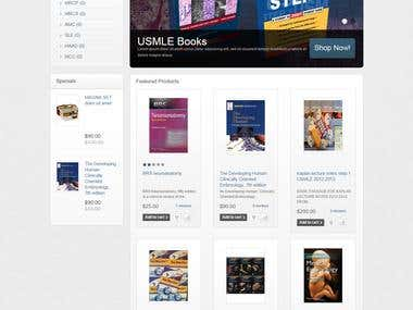 Book Store ecommerce website