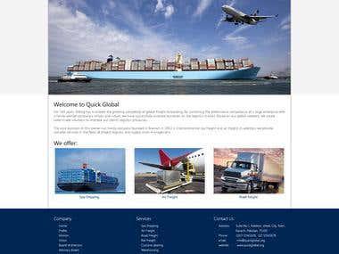 Quick Global Website design