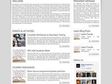 IEEE UOK Chapter website design