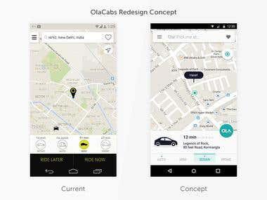 Olacabs Redesign Concept