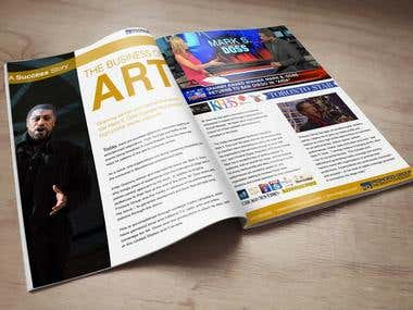 Brochure Spotlighting Singer