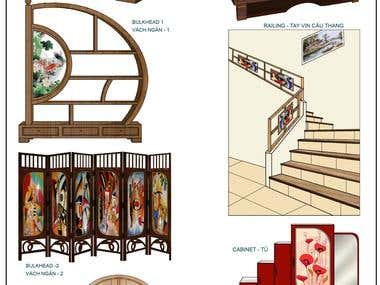 Furniture design and tiles