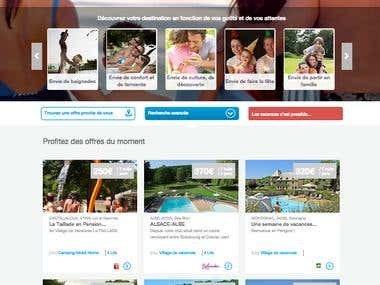 Tourism Leisure website Management (French) - Cheque Vacance