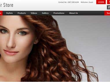 Hair Saloon Online Booking System