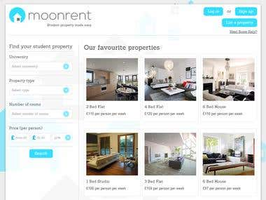 Room & Apartment Rental Website