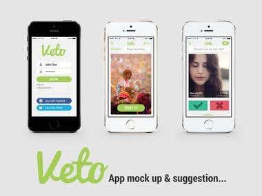 Veto App Mockup