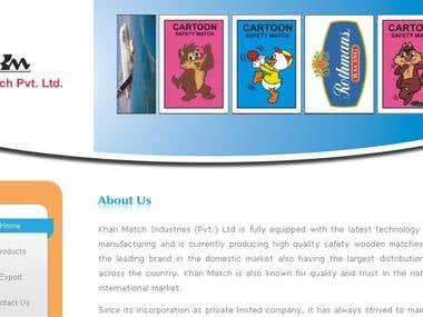 Website for Khan Match Industry