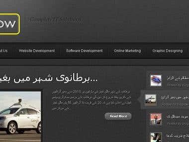 Dynamic Website for Bizglow Int.