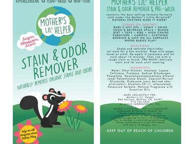 Stain Remover Label