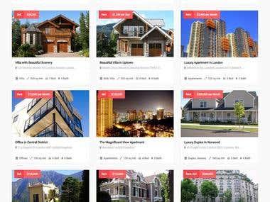 Realestate web design