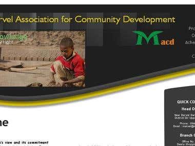 Website for MACD Pak NGO