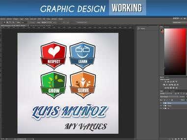 WORKING ON GRAPHIC DESIGN