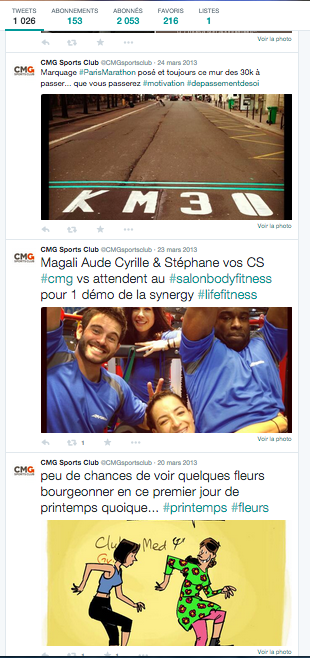 Twitter Club med Gym (CMG) - French Tourism & Leisure