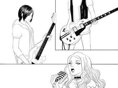 Manga page from Songfic