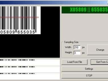 Very simple barcode reader using Visual Basic (2003)