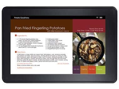 Potato recipe book for Kindle fixed layout