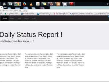 Daily Status Reporting Web Application