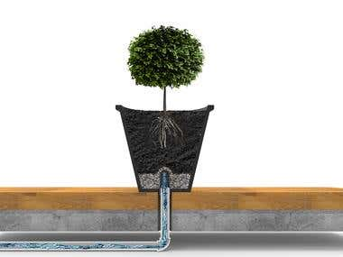 Drain system illustration