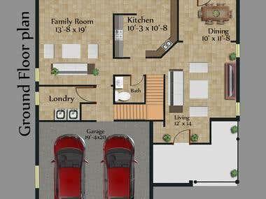 Colored Floor Plan