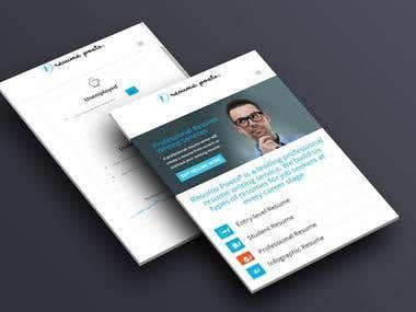Resume Poets - User Interface design