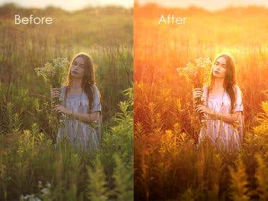 Before and After - Portrait