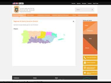Department of Health of Puerto Rico\'s Public Website