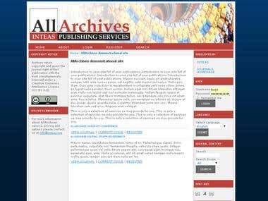 Allarchive ojs site
