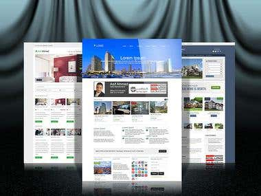 Real Estate Website Mock Up For real Estate Agent