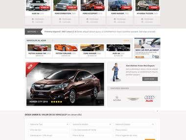 Design a Website Mockup for micarro.ec