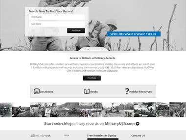 Website Design for MilitaryUSA.com