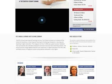 Website Design for Seminar