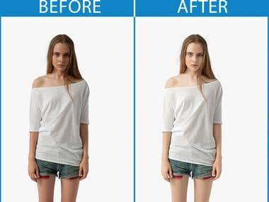 Skin Retouch , skin color correction