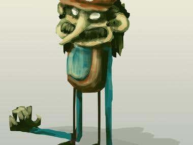 WIP Creepy Mario