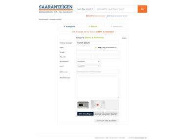Classifieds website redesign