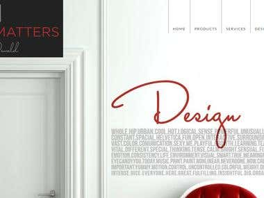 Interior design professional website