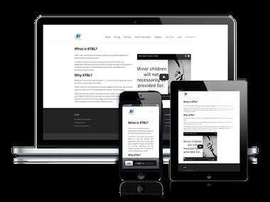 Simple WordPress site