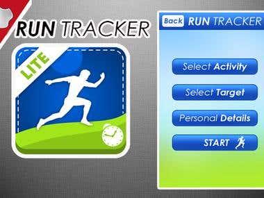 iPhone app run tracer