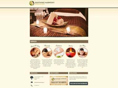 Customize theme to create spa business website