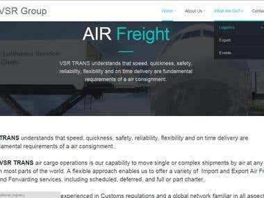 Website For Logistics Services and Export